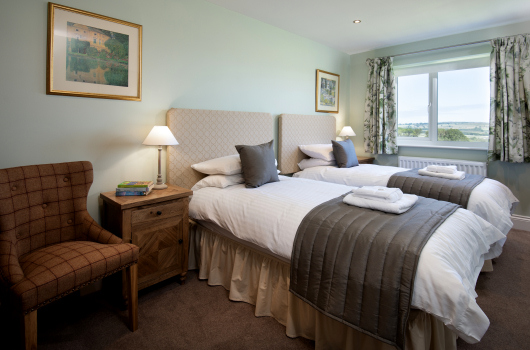 Twin Bedroom, Melrose Cottage, Northumberland