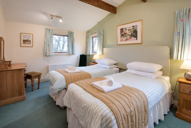 Twin Bedroom, Pine Chalet, Northumberland