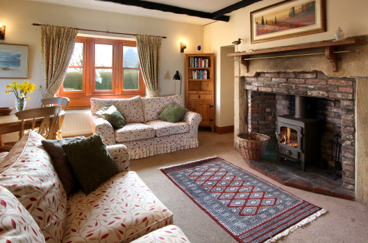 Lounge, Wool Cottage, Northumberland